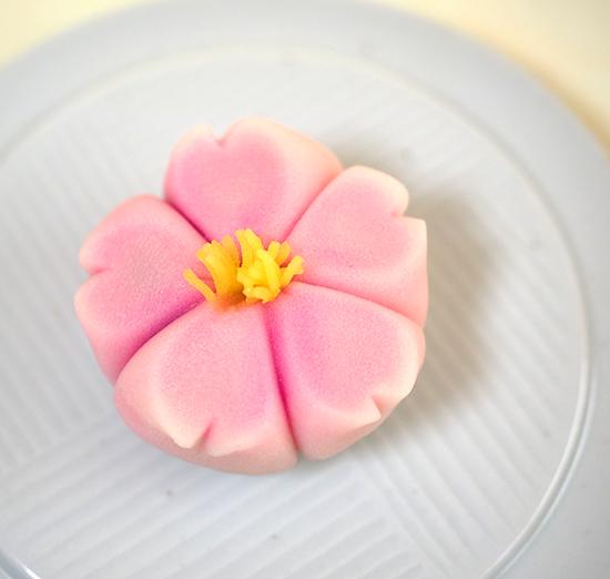 桜を模した上生・練り切りあん(C)孫三・花詩・箱根・Hakone, Japan