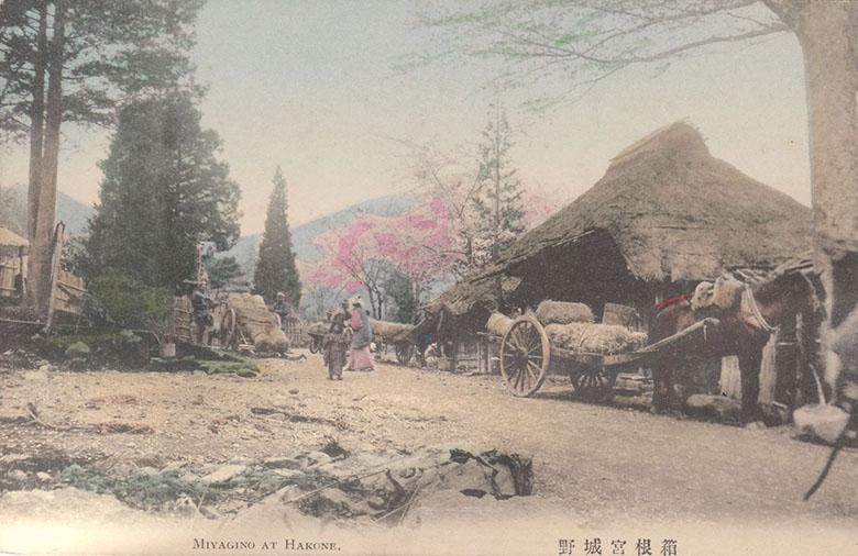 箱根の宮城野・箱根の古い絵はがき(C)箱根のお土産は孫三総本家・花詩